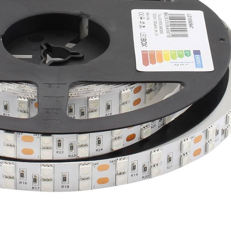 LED Strip SMD5050, DC24V, 5m (120 Led/m), UV - IP20